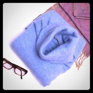 ATHLETA Sz L Blue Cashmere Turtle Neck Sweater
